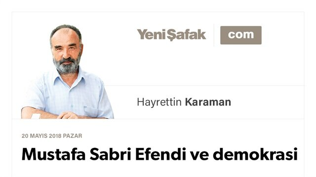 Mustafa Sabri Efendi ve demokrasi