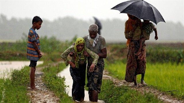Muson yağmurları 7 bin Arakanlı mülteciyi etkiledi