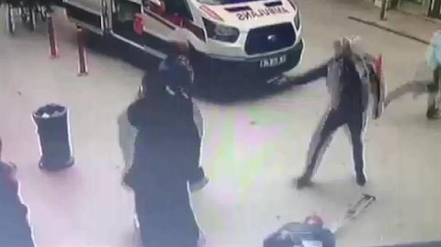 Hastane önünde cinayet kamerada