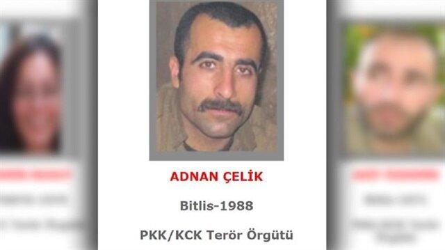 Terör örgütünün Siirt Deştova Gücü sorumlusu Kendal kod adlı terörist Adnan Çelik