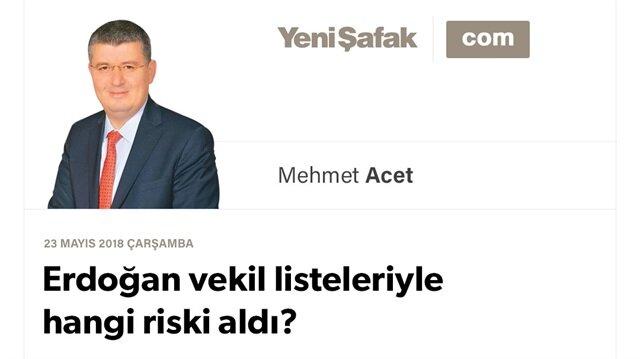 Erdoğan vekil listeleriyle hangi riski aldı?