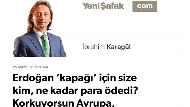 Erdoğan 'kapağı' için size kim, ne kadar para ödedi? Korkuyorsun Avrupa, daha çok korkacaksın!