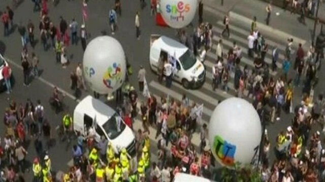 احتجاجات في 80 مدينة فرنسية ضد سياسات ماكرون