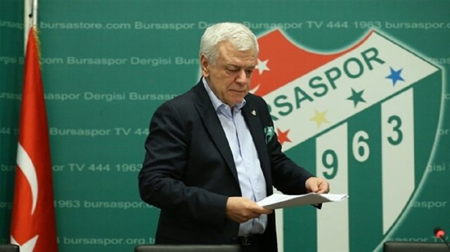 Bursaspor'da başkan yeniden Ali Ay seçildi
