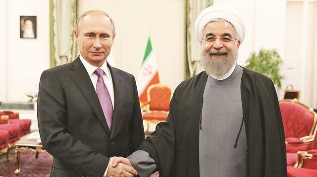 Rusya Devlet Başkanı Putin, İran Cumhurbaşkanı Ruhani