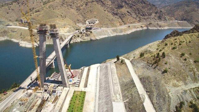 Yeni Kömürhan Köprüsü, Bağlantı Tüneli ve Yolu'nun yüzde 82'si tamamlandı.