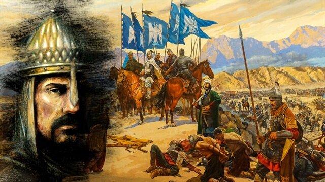 """Halife Kaim-Biemrillah özel elçisiyle gönderdiği mektubunda takdir ve tebriklerini bildirerek Alparslan'a """"Ebü'l-feth"""" lakabını vermiştir."""
