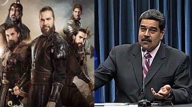 Maduro'dan Diriliş Ertuğrul'a övgü dolu sözler