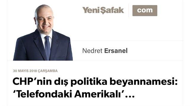 CHP'nin dış politika beyannamesi: 'Telefondaki Amerikalı'...