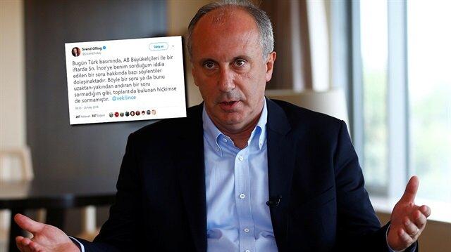 Danimarkalı Büyükelçi, İnce'nin açıklamasını net bir dille yalanladı.