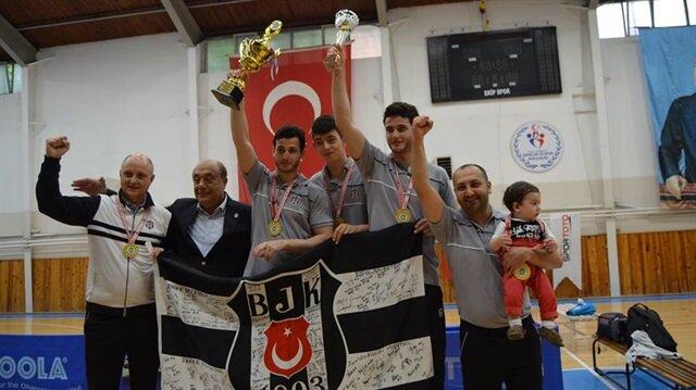 Beşiktaş, masa tenisinde şampiyon olarak kendi adına bir ilki başardı.