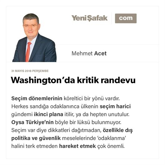 Washington'da kritik randevu