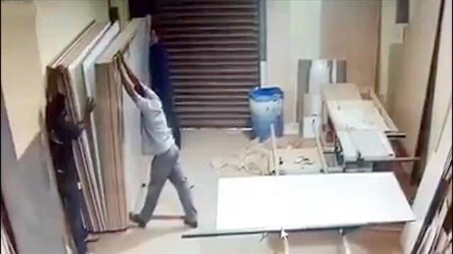 Korkunç iş kazası kamerada