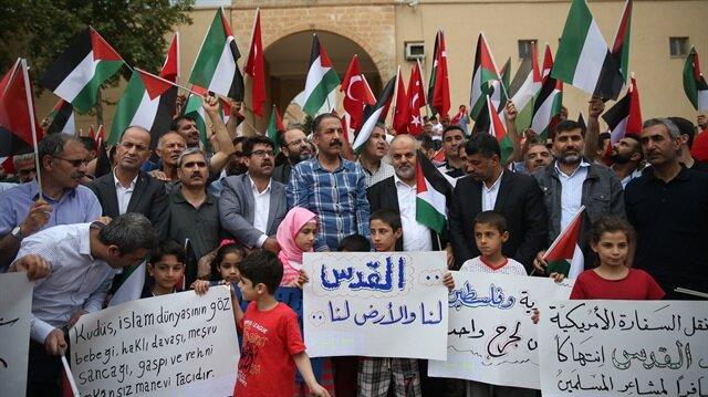 Şanlıurfa'da İsrail zulmü protesto edildi
