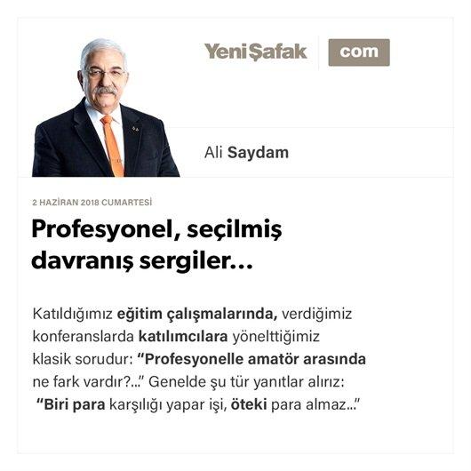 Profesyonel, seçilmiş davranış sergiler…