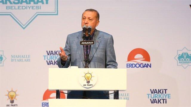 Cumhurbaşkanı Erdoğan, Aksaray'da iftar programında konuştu