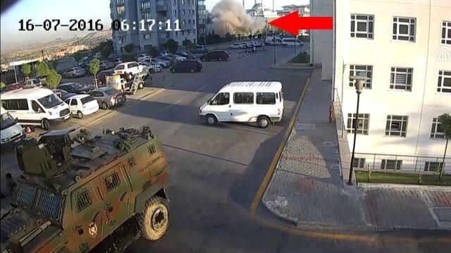 15 Temmuz'a ait yeni görüntü: Hainler Külliye'yi böyle bombalamış!