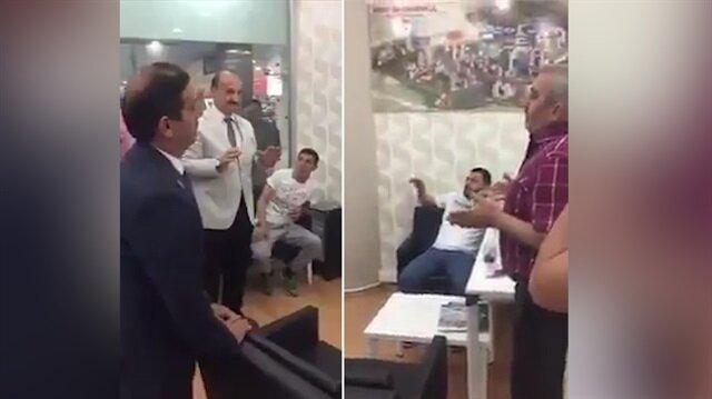 Esnafa ziyarete gelen Saadet Partililer boynu bükük ayrıldı