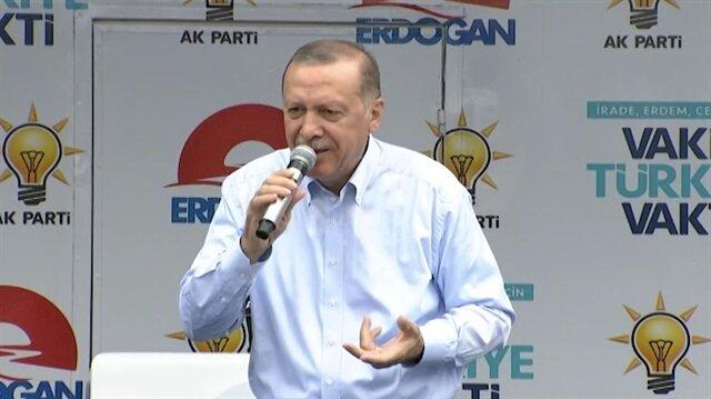 Erdoğan'dan 'prompter' cevabı: Ben prompterın dersini veririm sana