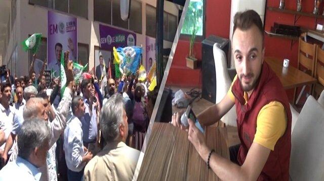 Mardin'de HDP'ye mehteranlı tokat gibi protesto