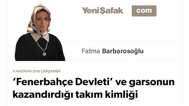 'Fenerbahçe Devleti' ve garsonun kazandırdığı takım kimliği
