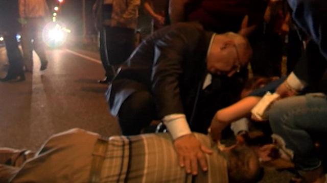 AK Partili adaydan yaralıya hayati müdahale
