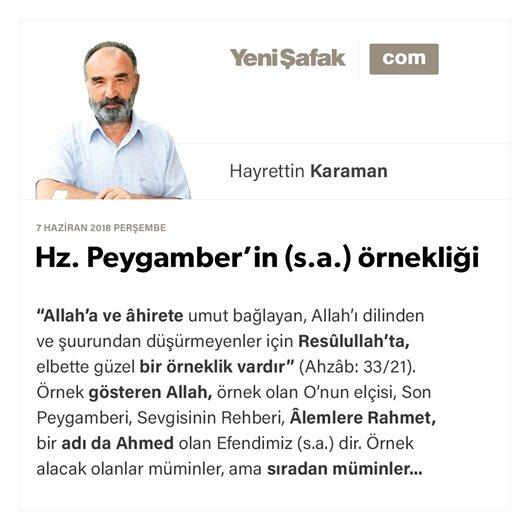 Hz. Peygamber'in (s.a.) örnekliği