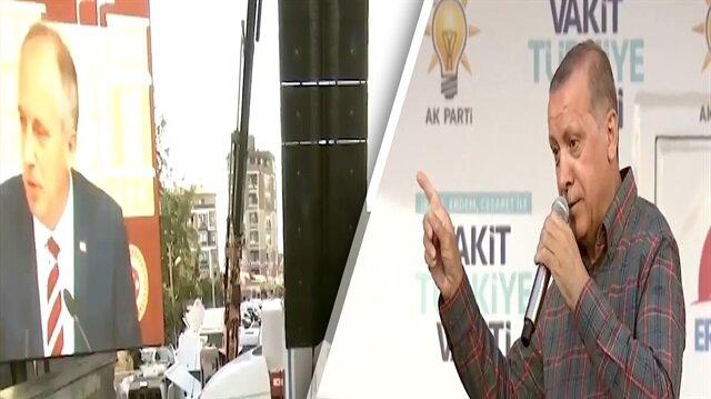 Erdoğan, Muharrem İnceye kendi sözleriyle yüklendi: Yenmiş de yenmiş