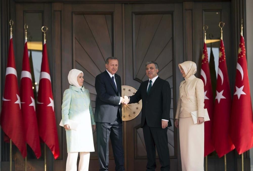 12. Cumhurbaşkanı Erdoğan ve 11. Cumhurbaşkanı Gül Çankaya Köşkünde.