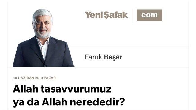 Allah tasavvurumuz ya da Allah nerededir?