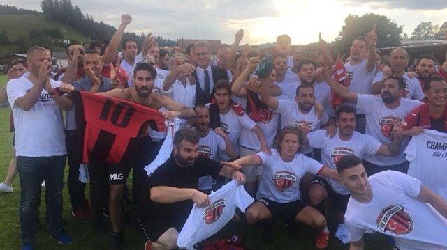 Türk takımı İsviçre 2. Ligi'ne yükseldi