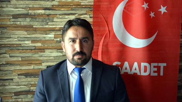 Tokat'ın Zile ilçesi Saadet Partisi İlçe Başkanı Serdal Akçay.