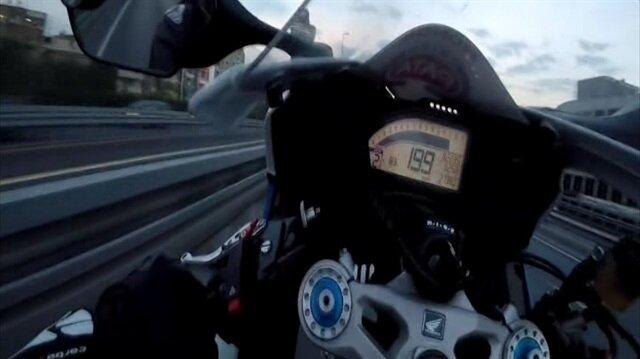 İşte trafik canavarı motosikletli maganda