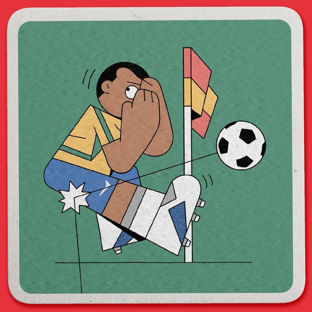 Rivaldo'nun 2002 Dünya Kupası'nda Türkiye maçında kendini yere attığı pozisyon. Dan Woodger / Guardian