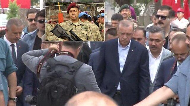 Erdoğan, kahraman Ömer Halisdemir'in mezarını ziyaret etti