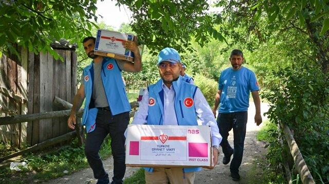 TDV'den katliam yaşanan Boşnak köyüne ramazan yardımı