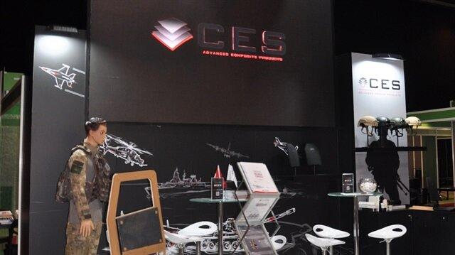 CES İleri Kompozit ve Savunma Teknolojileri firması, fuarda Türkiye'yi temsil eden firmalar arasında yer alıyor.