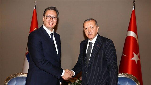 Cumhurbaşkanı Erdoğan ile Vucic görüştü