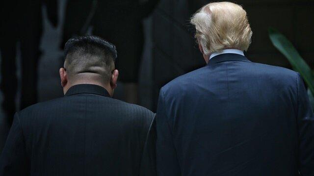 Trump-Kim zirvesinden ilk fotoğraflar