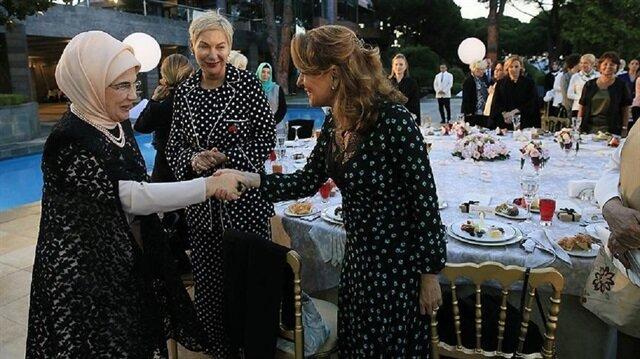 Emine Erdoğan kadınlar onuruna iftar verdi.