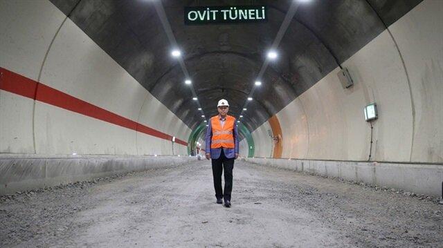 Cumhurbaşkanı Erdoğan Ovit Tüneli'nin açılışını yarın yapacak