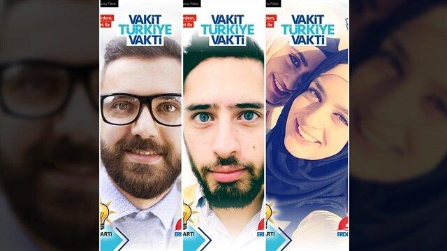 AK Parti'den Snapchat kampanyayası.