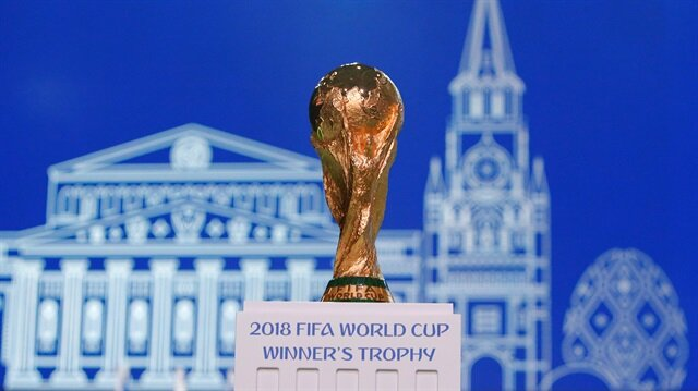 The 2018 FIFA World Cup Winner's Trophy is on display before the 68th FIFA Congress in Moscow, Russia June 13, 2018.