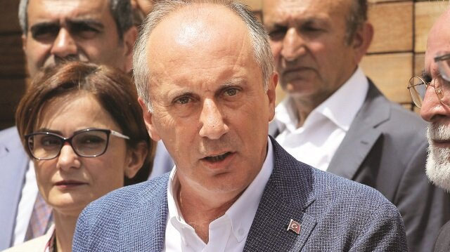 Cumhuriyet Halk Partisi'nin (CHP) cumhurbaşkanı adayı Muharrem İnce
