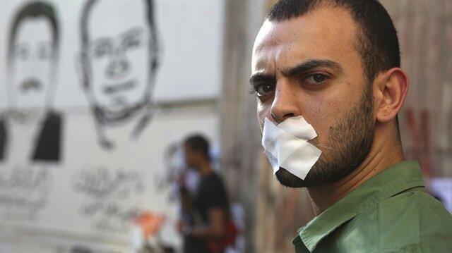 Mısır'da gazeteciler, zaman zaman ülkede basın özgürlüğü olmadığı için gösteriler düzenliyor