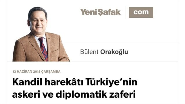 Kandil harekâtı Türkiye'nin askeri ve diplomatik zaferi