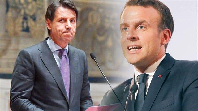İtalya'nın aşırı sağcı Başbakanı Conte - Fransa Cumhurbaşkanı Emmanuel Macron