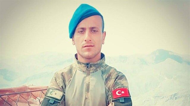 Hakkari'de şehit düşen Topçu Onbaşı Abdülselam Halat.