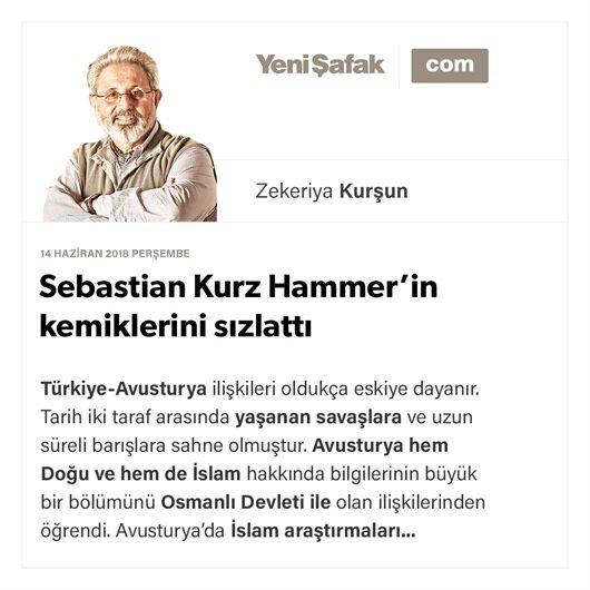 Sebastian Kurz Hammer'in kemiklerini sızlattı