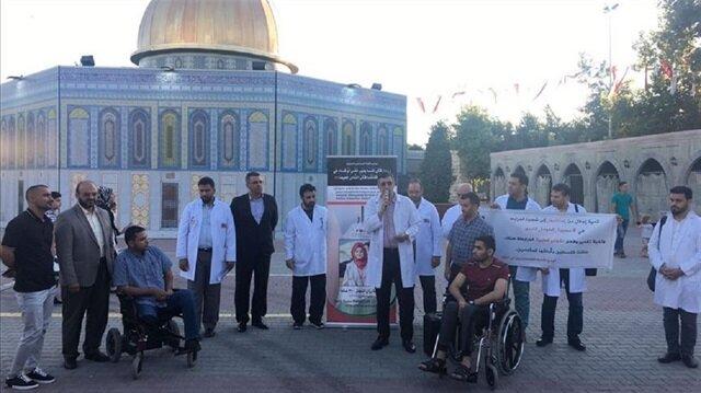   إسطنبول.. وقفة تضامنية لأطباء فلسطينيين مع الشهيدة رزان النجار
